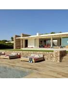 Gresie porțelanată presată pentru interiorul piscinei și plajă.